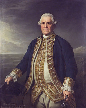 Richard Edwards (Royal Navy officer, died 1795) - Admiral Richard Edwards, RN, painted by Nathaniel Dance, 1780