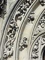 Rivecourt (60), église Saint-Wandrille, portail occidental, détail de l'archivolte 2.JPG
