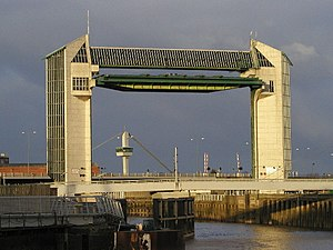 Humber - River Hull tidal barrier. Situated at the end of the River Hull where it meets the Humber