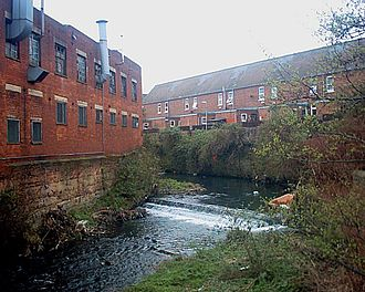 River Sheaf - River Sheaf by Duchess Road at Highfield.