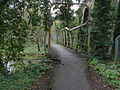 River Wey footbridge, Brooklands, 21 April, 2012.jpg