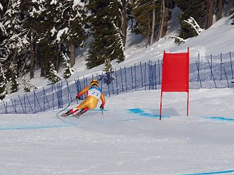 Canada at the 2010 Winter Olympics - Robbie Dixon competes in the downhill competition.
