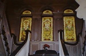 Roberson Mansion - Stained glass windows at the top of the main staircase