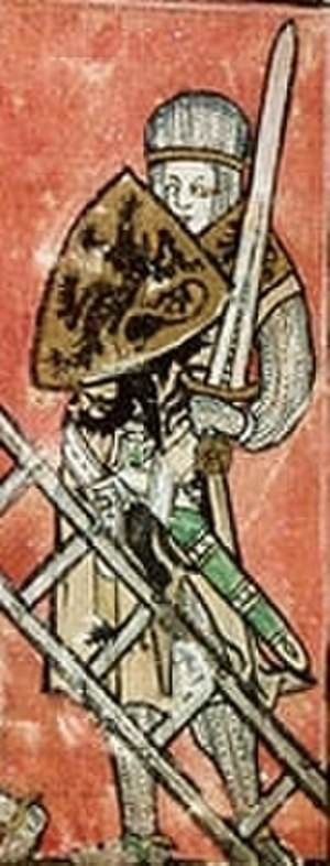 Ernulf de Hesdin - 14th-century depiction of Robert II, Count of Flanders, a lukewarm ally in the Normandy campaign but an enthusiastic crusader a few years later.