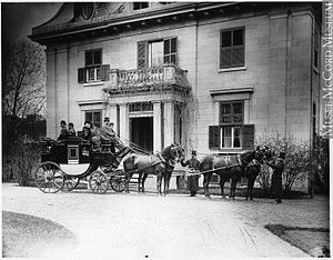 Andrew Robertson (businessman) - Robertson's house off Dorchester Street in the Golden Square Mile, Montreal