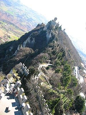 Chesta, the highest of Monte Titano's summits.