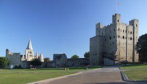 Lâu đài Rochester.