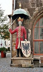 Statue of Roland in Nordhausen.