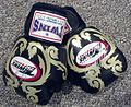 Romance & Sports Model John Quinlan Autographed Muay Thai Boxing Gloves.jpg