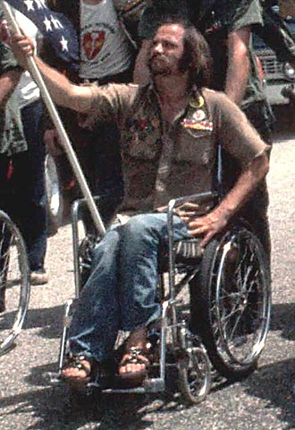 Ron Kovic - Kovic protesting the 1972 Republican National Convention
