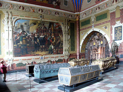 Interior of Christian IV's Chapel. - Roskilde Cathedral