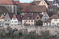 Rothenburg ob der Tauber, Stadtbefestigung, Burggasse 15, 13, 11, Stadtmauer-20160108-001.jpg