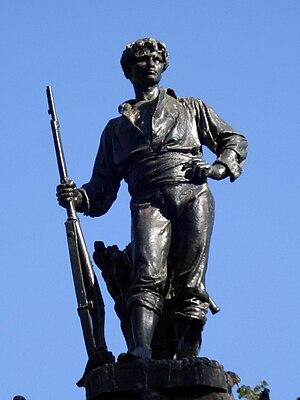 Roto - Monument to the Chilean roto, Plaza Yungay, Santiago.