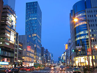 Aoyama, Minato, Tokyo - 5 Minami-Aoyama intersection, on Aoyama-dori