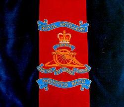 royal artillery mounted bands music stand bannerjpg