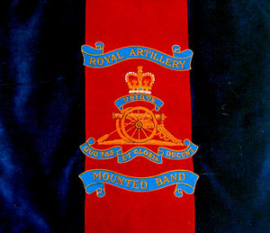 Royal Artillery Mounted Band - Image: Royal Artillery Mounted Band's Music Stand Banner