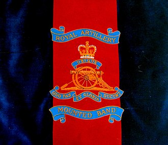 Royal Artillery Mounted Band - Image: Royal Artillery Mounted Band's Music Stand Banner
