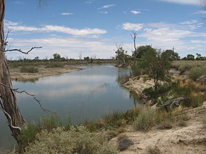 Rufus River - A section of the Rufus River between Lake Victoria and the Murray River, near the Lake Victoria outlet regulator