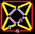 Runcinated order-4 square tiling honeycomb verf.png