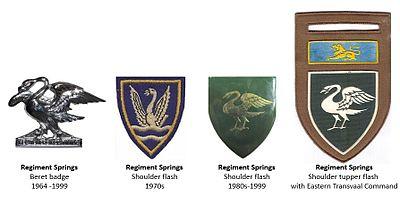 SADF Regiment Springs insignia
