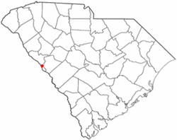Location of Modoc, South Carolina