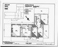 SECOND FLOOR PLAN, ROOF PLAN - Locust Grove, State Roads 34 and 32, Greenwood, Sussex County, DE HABS DEL,3-GREW.V,1-4.tif