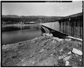 SIDE VIEW; WEST END OF UPSTREAM FACE OF DAM-1980 - Terminal Dam, Tacoma, La Plata County, CO HAER COLO,33-TAC.V,4-14.tif