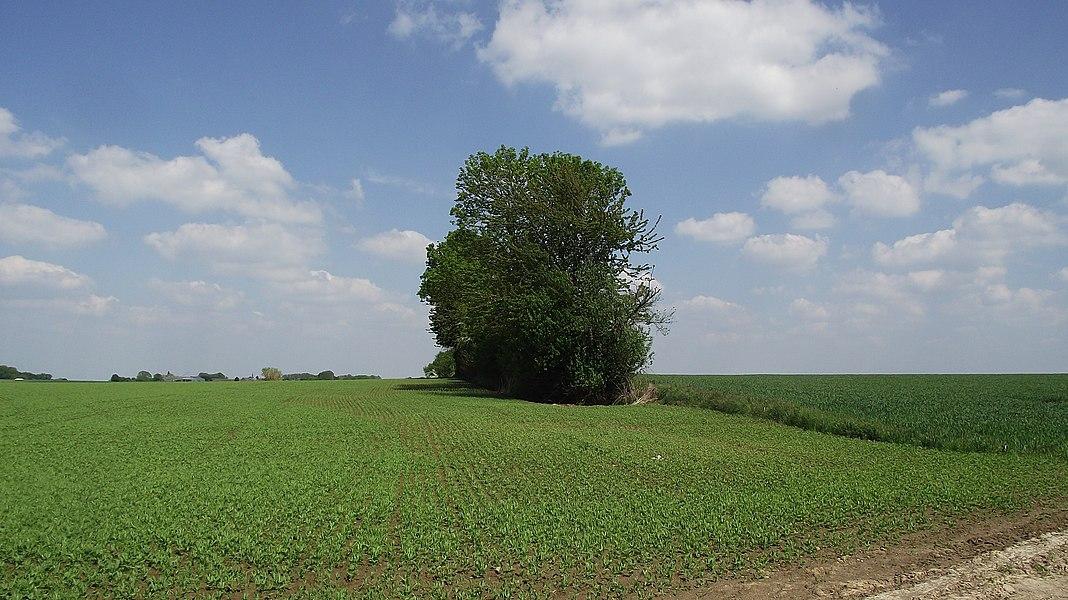 Ex-buurtspoorwegroute Sart-Risbart - Gembloux in het gebied van de gemeente Chaumont-Gistoux.