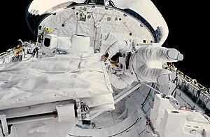 STS-41-G - Sullivan during the EVA.