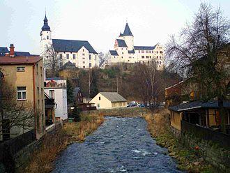 Schwarzwasser (Mulde) - The Schwarzwasser in Schwarzenberg
