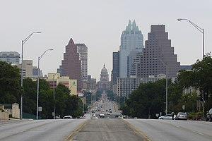 Texas Capitol View Corridors - The protected capitol terminating vista along Congress Avenue