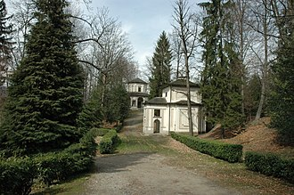 Sacro Monte di Orta - View of the chapels and the park.