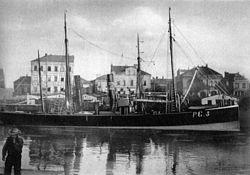Um 1890 an der Geeste-Kaje