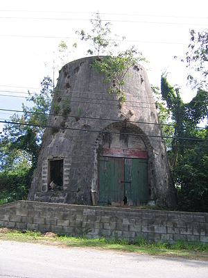 Saint Andrew, Barbados - Old millwall in Saint Andrew