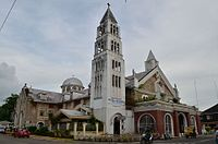 Saints Peter and Paul Cathedral - Calbayog City in the Philippines (side view).jpg