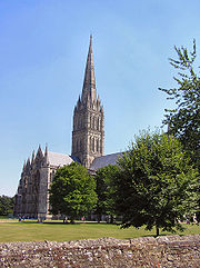 Salisbury Cathedral has the tallest spire in England.