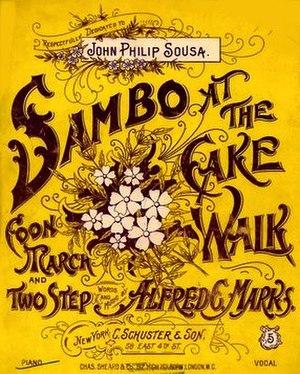 1896 in music - Sambo at the Cakewalk, sheet music cover