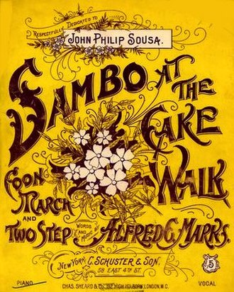 1896 in music - Sambo at the Cakewalk, sheet music cover