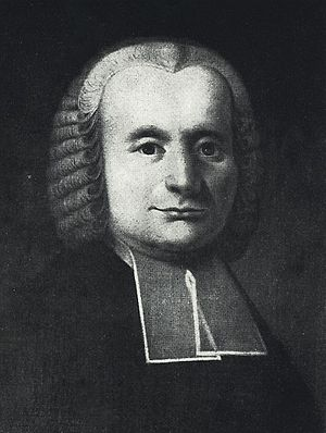 Samuel Gotthold Lange - Portrait by an unknown artist in 1758