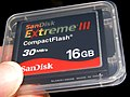 SanDisk Extreme III CompactFlash 16GB 20090907.jpg
