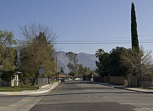 San Jacinto, California - Panorama along 6th Street to the east.