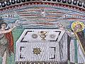 San vitale, ravenna, int., presbiterio, mosaici di dx 03 offerta di abele e melchidesech 03 (cropped).JPG