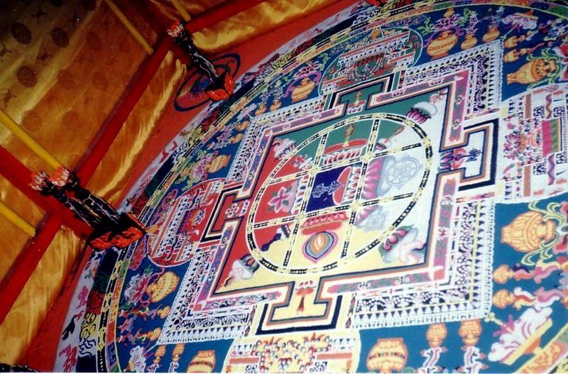 Sand mandala. Drongste Gompa 1993.JPG