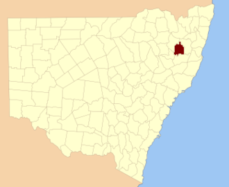 Sandon County - Location in New South Wales