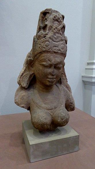 Yogini - Sandstone yogini from Madhya Pradesh. Pratihara period (800 to 900 AD