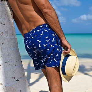 Trunks (clothing) - Loose swimming trunks