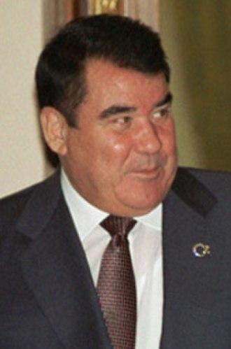 President of Turkmenistan - Image: Saparmurat Niyazov in 2002