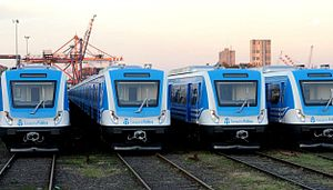 Domingo Faustino Sarmiento Railway - Current rolling stock of the commuter rail line.