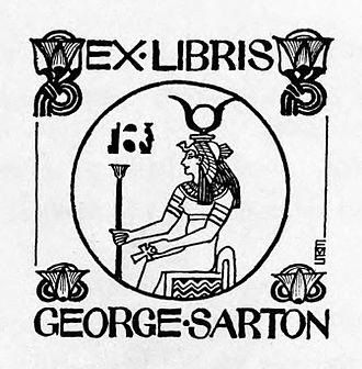George Sarton - Bookplate of George Sarton