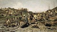 К. А. Савицкий. Ремонтные работы на железной дороге (1873—1874)